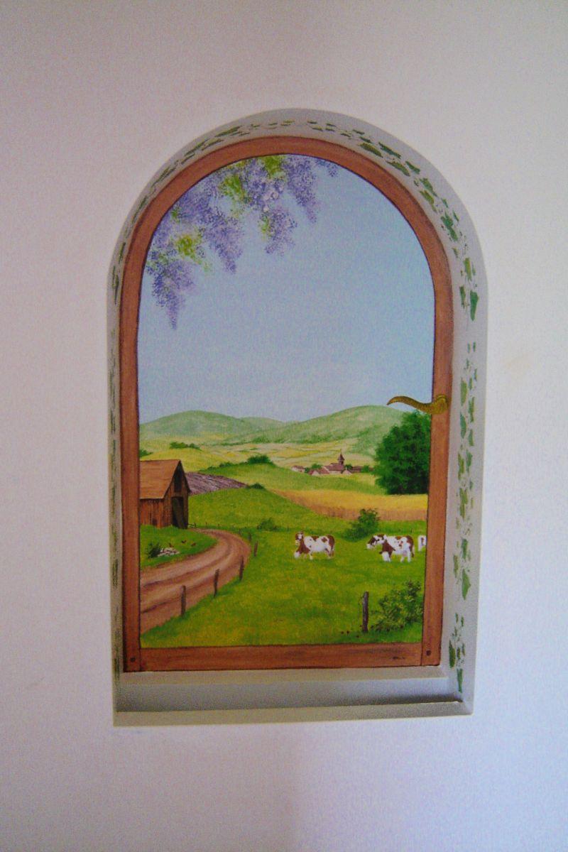 Decoration murale fausse fenetre 25 best ideas about for Deco fausse fenetre