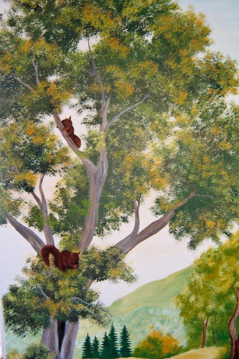 Fresque Murale Peinture Acrylique Trompe L Oeil Décoration